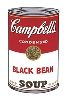 Campbell's Soup I:  Black Bean, 1968 Framed Print