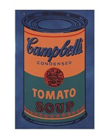 Colored Campbell's Soup Can, 1965 (blue & orange) Framed Print