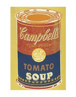 Colored Campbell's Soup Can, 1965 (yellow & blue) Framed Print