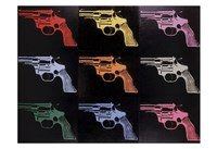 Gun, c. 1982 (many/rainbow) Fine Art Print