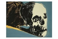 Skull, 1976 (yellow on teal) Fine Art Print
