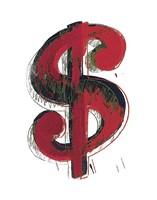 Dollar Sign, 1981 (red) Fine Art Print