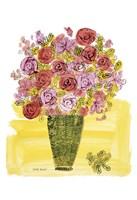 (Stamped) Basket of Flowers, 1958 Fine Art Print