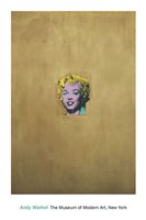 Gold Marilyn Monroe Fine Art Print