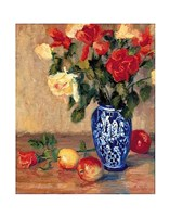 Roses in a Mexican Vase Fine Art Print
