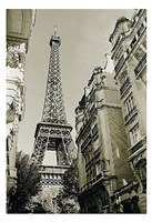 Eiffel Tower Street View #1 Fine Art Print