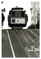 Cable Car Breaking the Crest Fine Art Print