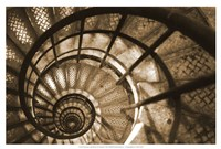 Spiral Staircase in Arc de Triomphe Fine Art Print