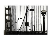 Golden Gate Bridge in Silhouette Fine Art Print
