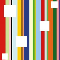 White Square on Stripe (detail) Fine Art Print