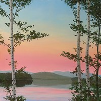 Cooper Sunset Birches Fine Art Print