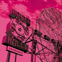 Cotton Candy Wonder Wheel Fine Art Print