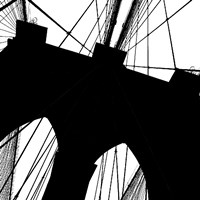 Brooklyn Bridge Silhouette (detail) Framed Print