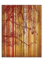 Auburn Stripe Framed Print