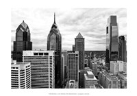 Philly Skyline (b/w) Fine Art Print