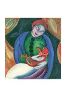 Girl with Cat II Fine Art Print