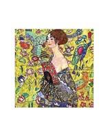 Lady with Fan Fine Art Print