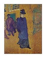 Jane Avril leaves the Moulin Rouge Fine Art Print