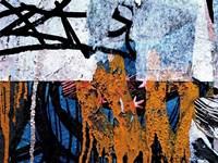 Blue Orange Layers 1 Fine Art Print