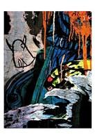 Blue Orange Layers 2 Fine Art Print