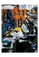 Blue Orange Layers 3 Fine Art Print