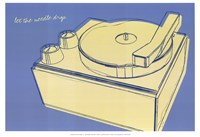 Lunastrella Record Player Fine Art Print
