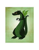 Green Dragon Fine Art Print