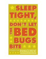 Sleep Tight, Don't Let the Bedbugs Bite (green & orange) Framed Print