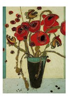 Poppies with Snap Pods Fine Art Print