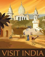 Visit India Fine Art Print