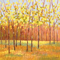Yellow and Green Trees (center) Fine Art Print