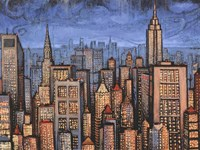 Twilight Skyline Fine Art Print