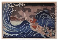 Nichiren Calms a Storm in Kakuda Fine Art Print