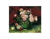 Roses and Peonies, 1886 Fine Art Print