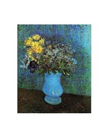 Vase with Lilacs, Daisies and Anemone Fine Art Print