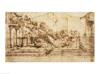 Perspective Study for the Background of The Adoration of the Magi Fine Art Print