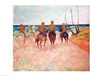 Horseman on the Beach Fine Art Print