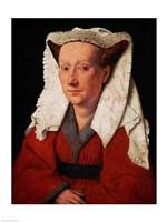 Portrait of Margaret van Eyck, 1439 Fine Art Print