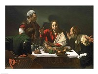 The Supper at Emmaus, 1601 Framed Print