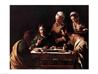 Supper at Emmaus, 1606 Framed Print