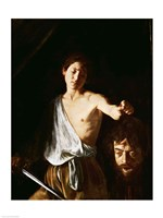 David with the Head of Goliath, 1606 Fine Art Print