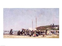 The Beach at Trouville, 1864 Fine Art Print