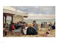 A Beach Scene Fine Art Print