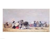 Beach Scene, Trouville, 1873 Fine Art Print