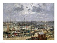 The Port of Bordeaux, 1874 Fine Art Print
