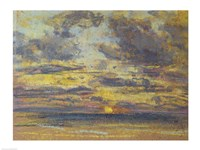 Study of the Sky with Setting Sun, c.1862-70 Fine Art Print