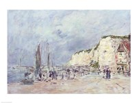 The Cliffs at Dieppe and the 'Petit Paris' Fine Art Print