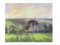 The Church and Farm of Eragny, 1895 Fine Art Print