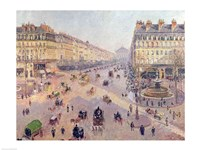 The Avenue de L'Opera, Paris, Sunlight, Winter Morning, c.1880 Fine Art Print