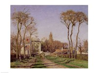 Entrance to the Village of Voisins, Yvelines, 1872 Fine Art Print